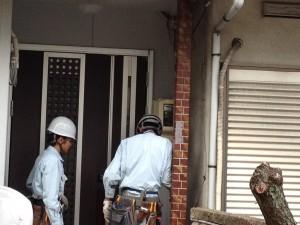 電気メーター移設工事 名古屋市西区 施工中