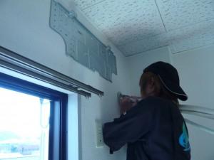 エアコン取付工事 名古屋市北区 施工事例 施工中