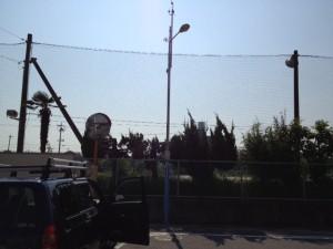 臨時電灯設備撤去工事 施工前 名古屋市東区