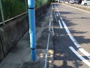 臨時電灯設備撤去工事 施工中 名古屋市東区