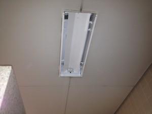 照明器具取替工事 施工中 名古屋市中区