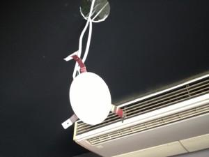 照明器具増設工事 施工中 名古屋市中区