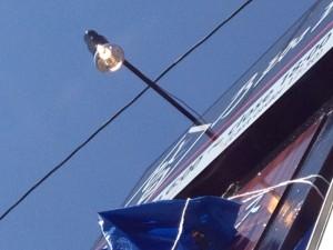 看板灯電源工事 施工後 北名古屋市