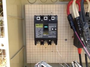 電灯契約変更工事 施工中 名古屋市港区