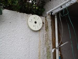 防犯灯設置工事 施工中 名古屋市中区