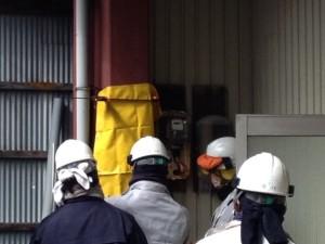中電契約変更工事 施工中 北名古屋市