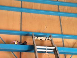 照明器具取替工事 施工中 名古屋市中村区
