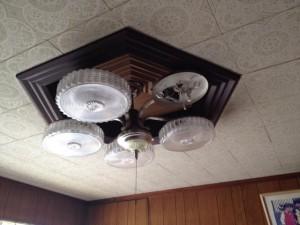照明器具取替工事 名古屋市北区 施工前