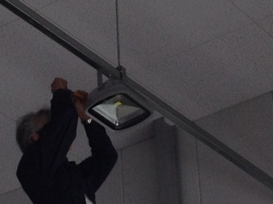 LED照明器具取替工事 名古屋市名東区 施工中