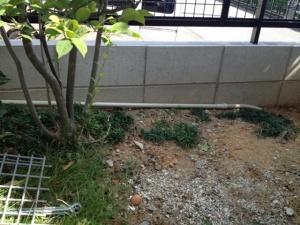 インターフォン取付工事 名古屋市南区 施工中