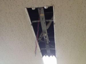 安定器取替工事 名古屋市中区 施工中