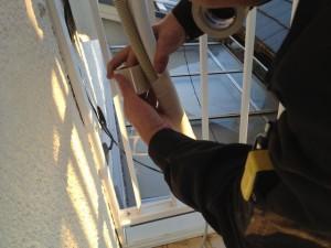 エアコン取替工事 名古屋市西区 施工中