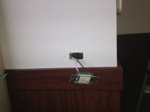照明器具取付工事 名古屋市中川区 施工中