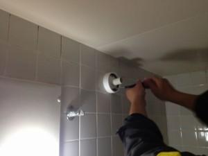 照明器具取替工事 名古屋市千種区 施工中