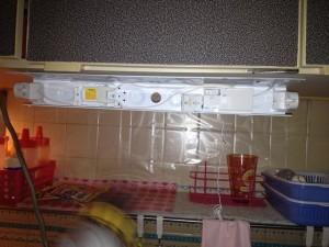 照明器具取替工事 名古屋市西区 施工中
