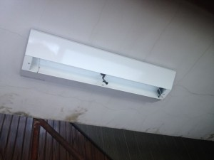 照明器具取替工事 名古屋市中村区 施工中