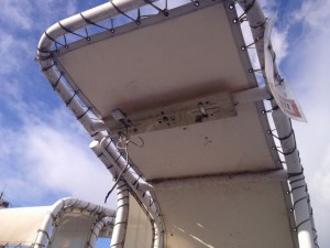 照明器具取替工事 名古屋市港区 施工中