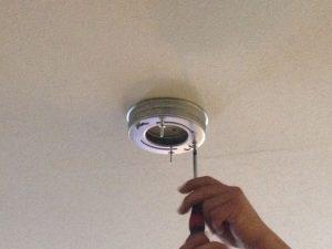 照明器具取付工事 名古屋市千種区 施工中