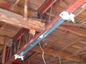 照明器具取付工事 名古屋市港区 施工中