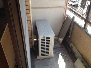 エアコン移設工事 名古屋市千種区 施工前