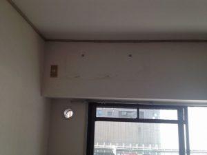 エアコン移設工事 名古屋市千種区 施工中