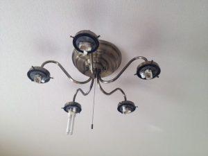 照明器具取替工事 名古屋市東区 施工前
