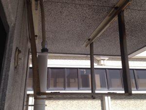 エアコン取替工事 名古屋市昭和区 施工中