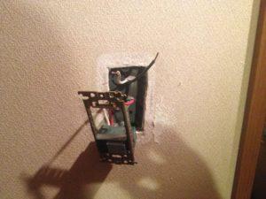 名古屋市西区にてスイッチの取換え工事を行ってきました。