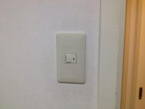 愛知県名古屋市中村区にてスイッチの取換工事を行いました。