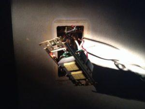 脱衣所照明スイッチ取替工事 名古屋市瑞穂区 施工中