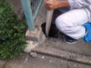 名古屋市守山区にて街路灯取付け工事を行いました。