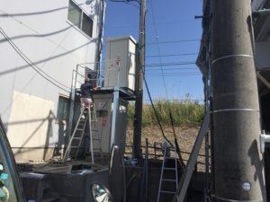 三重県桑名市長島町にてキュービクルの移設工事を行いました。