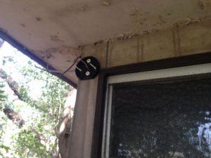外灯取替工事 名古屋市昭和区 施工中