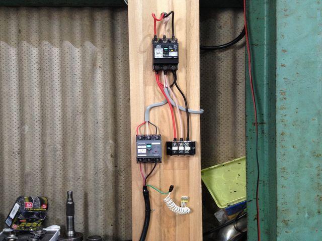 新規の動力回線引き込み電気工事(名古屋市)