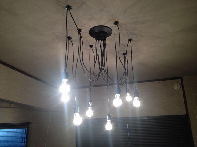 外国製 照明器具の電気工事を行いました!