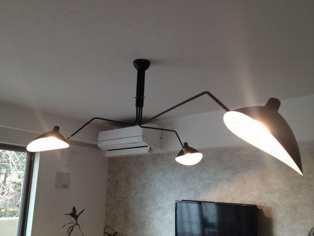 (名古屋市昭和区)デザイナーズ照明器具への取付電気工事を行いました。