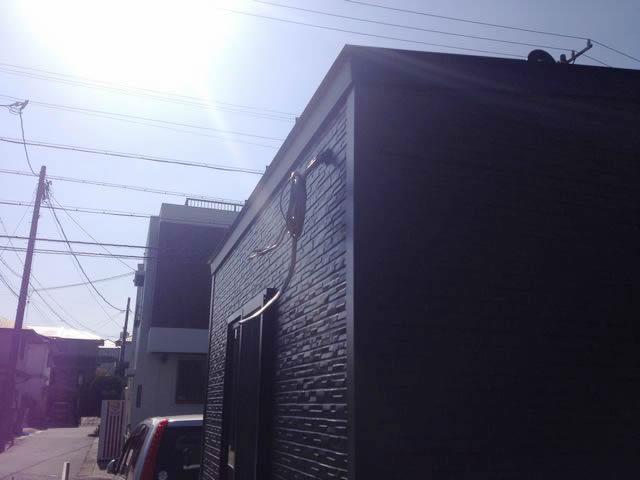 名古屋市守山区にておしゃれなプレハブに電気引込の電気工事を行いました!