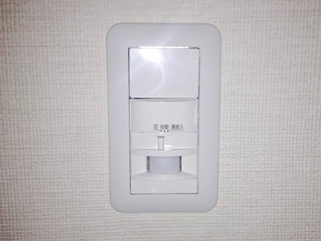 センサー付照明スイッチ交換の電気工事・電気修理を行いました。(名古屋市天白区)