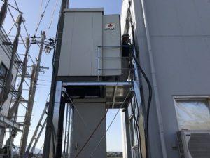 キュービクルの移設工事を三重県桑名市長島町にて行いました。